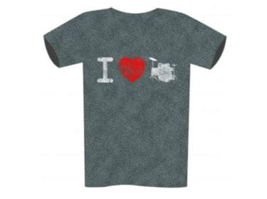 I-Love-Drums-T-Shirt-Front