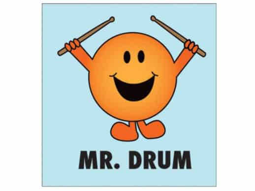 Mr-Drum-T-Shirt-Lyseblå