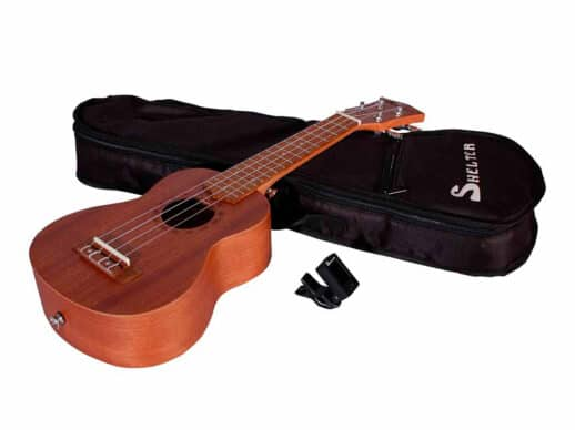 Shelter-UK3S-ukulele-med-tuner-og-bag