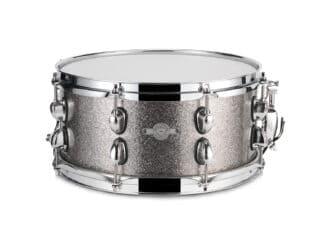 "Drum-Limousine lilletromme -13"" x 6½"" -dark-silver-sparkle"