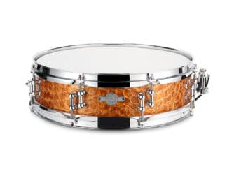 Drum-Limousine-14 x 3½ -Piccolo lilletromme croco gold leather