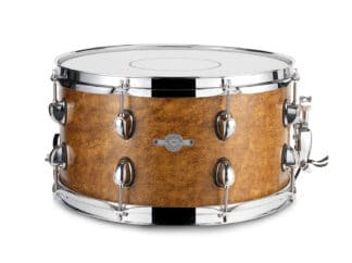 "Drum-Limousine lilletromme -14"" x 8½"" --dark-gold-leather"