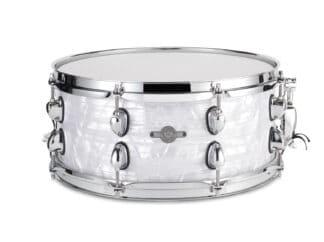 "Drum-Limousine lilletromme-14"" x 6½"" --white-pearl"