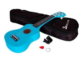 Shelter-ukulele-blå-UK1S-BL-pakke-med-bag-plekter-og-tuner Drum Limousine
