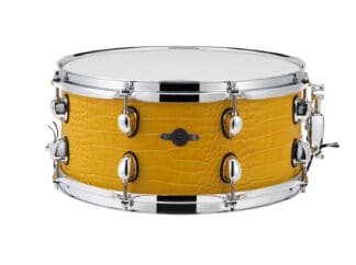 "Drum-LImousine-Lilletromme-14"" x 6½"" Yellow Croco Leather"