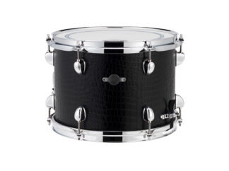 "Drum-LImousine-Lilletromme-12"" x 9"" Black Croco Leather"