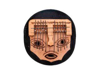 Drum-Limousine-Africa-KL51-kalimba,-big-mask