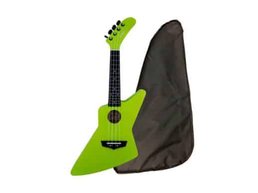 Chateau-BAS01EX-GR-ukulele-grøn-front-Drum-Limousine